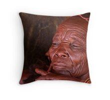 Himba Elder Throw Pillow