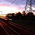 Sunset South Kensington Station by baudman