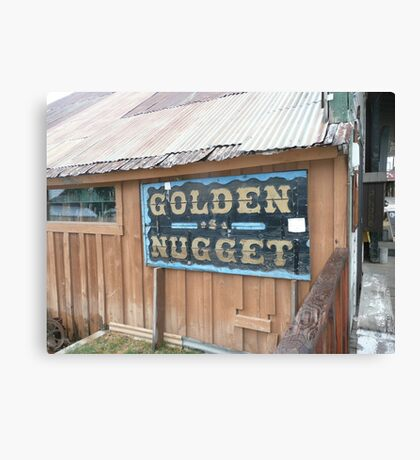 Golden Nugget Sign in Idaho City. Canvas Print