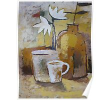 Coffee and Flowers Poster
