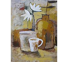 Coffee and Flowers Photographic Print