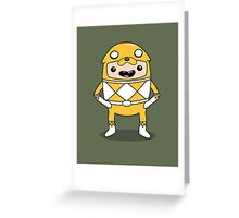 Morphin' Time - Adventure Time Power Rangers Jake Suit Greeting Card
