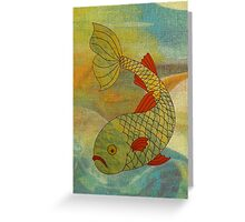 Fish in sea Greeting Card