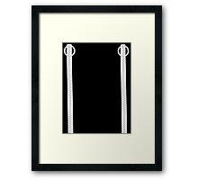 Zipper Goth Punk Ska 2 Framed Print