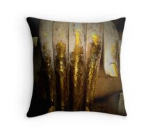 A touch of gold Throw Pillow