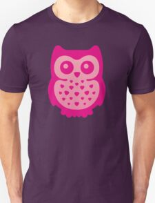 Cute Pink Baby Owl T-Shirt