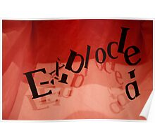 Exploded in Red Poster
