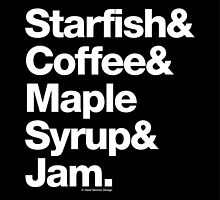 Starfish Coffee Helvetica Ampersand Prince T-Shirt & More by juk3box