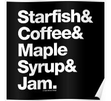 Starfish Coffee Helvetica Ampersand Prince T-Shirt & More Poster