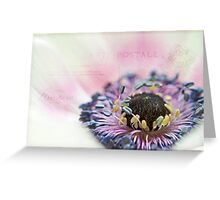 White anemone heart Greeting Card