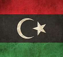 Old and Worn Distressed Vintage Flag of Libya by Jeff Bartels