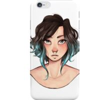 Messy hair iPhone Case/Skin