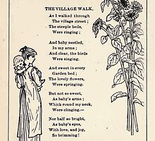 Miniature Under the Window Pictures & Rhymes for Children Kate Greenaway 1880 0046 The Village Walk by wetdryvac