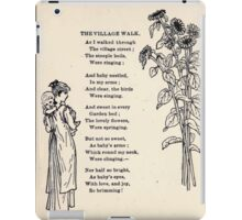 Miniature Under the Window Pictures & Rhymes for Children Kate Greenaway 1880 0046 The Village Walk iPad Case/Skin