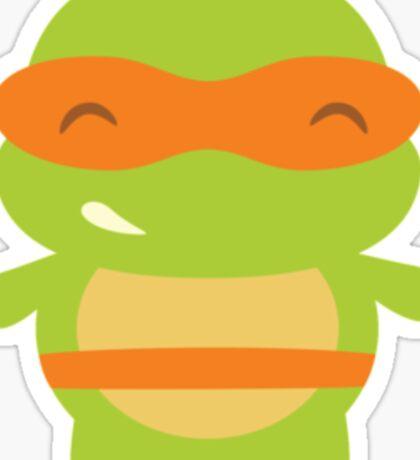 Michaelangelo Kawaii Teenage Mutant Ninja Turtle Sticker