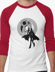 Umbra Witch Seal Bayonetta Silhouette Men's Baseball ¾ T-Shirt