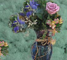 Flowers Layed In Frost by Linda Miller Gesualdo