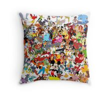 Disney Collage Throw Pillow