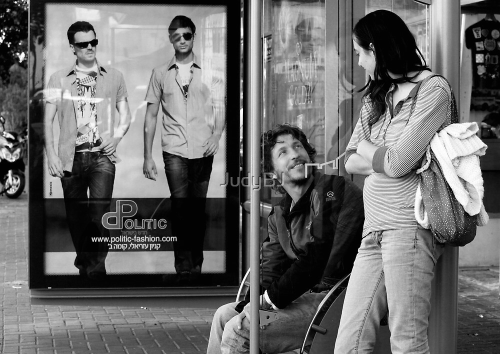 Bus stop 8 (or may i have your phone number?) by JudyBJ