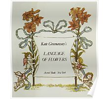 Language of Flowers Kate Greenaway 1884 0009 Title Plate 3 Poster