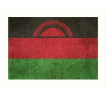 Old and Worn Distressed Vintage Flag of Malawi Art Print