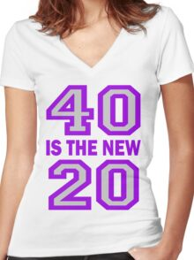 40 Is The New 20 Cougar Town Women's Fitted V-Neck T-Shirt