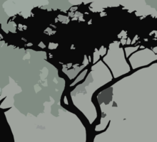 topi moonlit silhouette Sticker