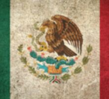 Old and Worn Distressed Vintage Flag of Mexico Sticker