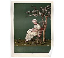 Under the Window Pictures and Rhymes for Children Edmund Evans and Kate Greenaway 1878 0025 Beneath the Lilies Poster