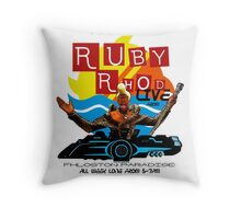 Ruby Rhod LIVE! Throw Pillow