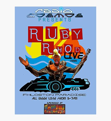 Ruby Rhod LIVE! Photographic Print