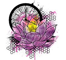 A Tranquil Time - Abstract Lotus Photographic Print
