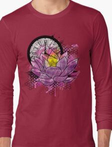 A Tranquil Time - Abstract Lotus Long Sleeve T-Shirt