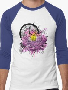 A Tranquil Time - Abstract Lotus Men's Baseball ¾ T-Shirt
