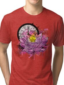 A Tranquil Time - Abstract Lotus Tri-blend T-Shirt