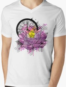 A Tranquil Time - Abstract Lotus Mens V-Neck T-Shirt