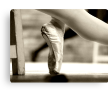 Ballerina foot Canvas Print