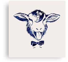 Cheeky sheep with a bow tie Canvas Print