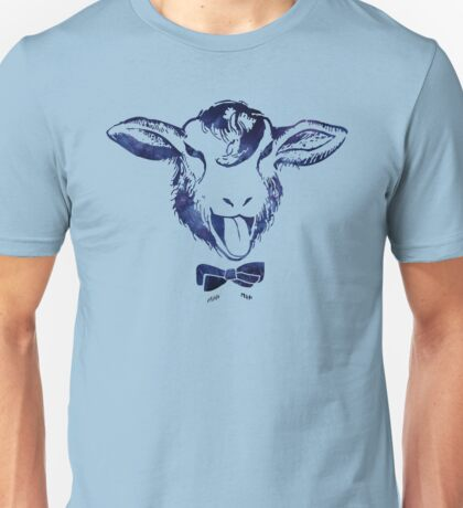 Cheeky sheep with a bow tie Unisex T-Shirt