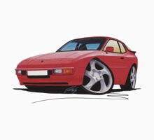 Porsche 944 Red by Richard Yeomans