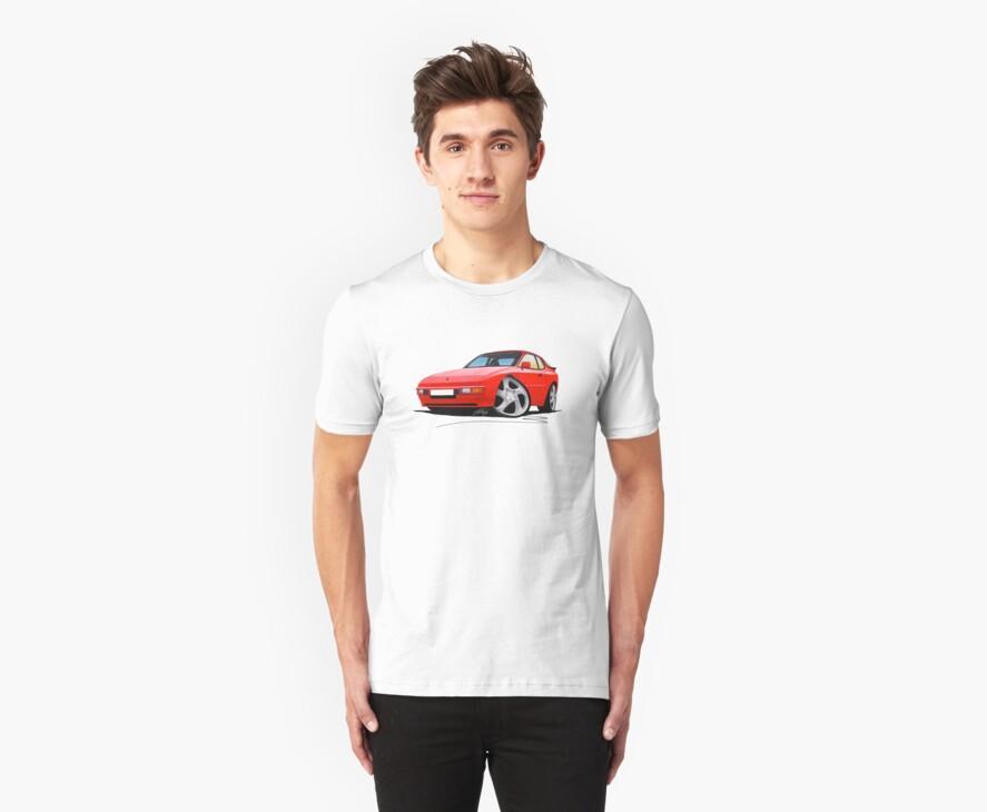 Porsche 944 Red by Richard Yeomans