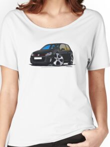 VW Golf GTi (Mk6) Black Women's Relaxed Fit T-Shirt