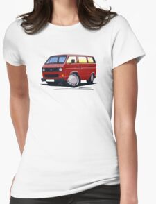 VW T25 / T3 D.Red Womens Fitted T-Shirt
