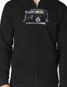 VW Splitty (11 Window) F (Black) T-Shirt