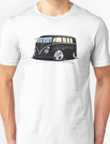 VW Splitty (11 Window) F (Black) T-Shirt