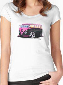 VW Splitty (23 Window) C Women's Fitted Scoop T-Shirt