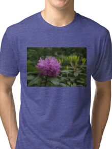 Bright Pink Azalea, Gently Swaying in the Rain  Tri-blend T-Shirt