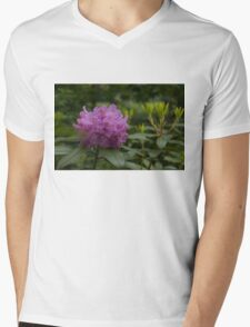 Bright Pink Azalea, Gently Swaying in the Rain  Mens V-Neck T-Shirt