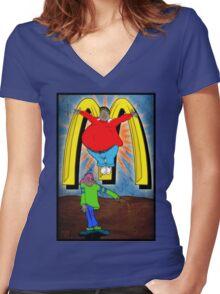 Saint Albert the Martyr Women's Fitted V-Neck T-Shirt