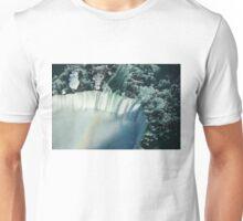 Flying Over Icy Niagara Falls Unisex T-Shirt